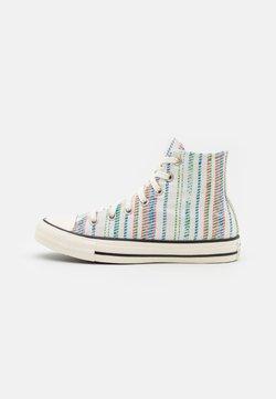 Converse - CHUCK TAYLOR BEACH STRIPES UNISEX - Sneakersy wysokie - egret/egyptian blue