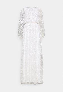 Maya Deluxe - WAIST ALL OVER EMBELLISHED DRESS - Robe de cocktail - white
