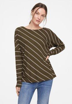 comma casual identity - Langarmshirt - khaki diagonal stripes