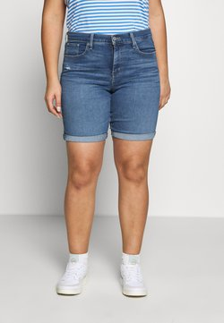 Levi's® Plus - SHAPING BERMUDA - Farkkushortsit - paris rain plus