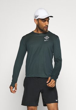Nike Performance - PACER CREW  - Funktionsshirt - seaweed/asparagus/reflective silver