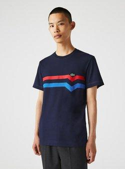 Lacoste - T-Shirt print - bleu marine / rouge / bleu