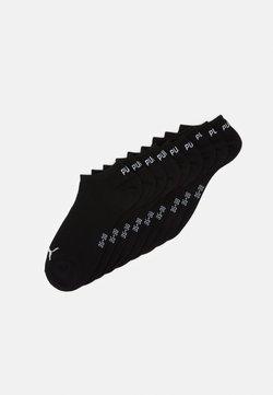 Puma - UNISEX SNEAKER PLAIN 9 PACK - Varrettomat sukat - black