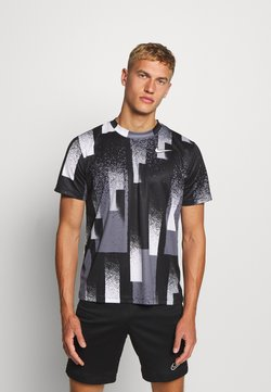 Nike Performance - DRY TOP - T-Shirt print - black/white