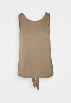 Casall - TIE BACK TANK - Top - taupe