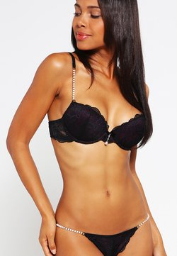 LASCANA - Biustonosz push-up - black/eggplant