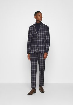 Isaac Dewhirst - BOLD CHECK SUIT - Costume - dark blue