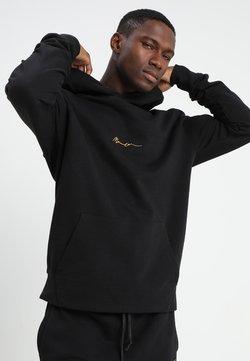 Mennace - ESSENTIAL REGULAR OVERHEAD HOODY WITH SIGNATURE - Kapuzenpullover - black