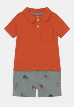 Carter's - 2-Piece Jersey Polo & Short Set - Shorts - orange/blue-grey