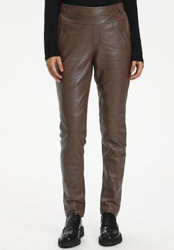 Kaffe - GIA SOFIE - Pantalon en cuir - shopping bag