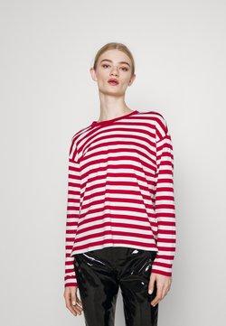 Monki - MAJA 2 PACK - Langarmshirt - red/white