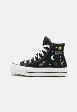 Converse - CHUCK TAYLOR ALL STAR LIFT - High-top trainers - black/vintage white/multicolor