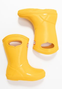 Hunter ORIGINAL - KIDS FIRST CLASSIC PULL-ON GLOSS - Gummistiefel - yellow