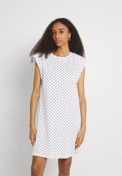 ONLY - ONLPERNILLE SHOULDER DRESS - Jerseykleid - white
