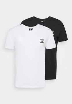 Hummel - RIVER 2 PACK - T-shirt basic - black/white