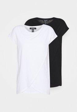 New Look Maternity - NURSING WRAP TEE 2PACK - T-shirt imprimé - black/white
