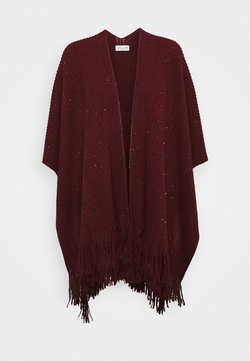 Molly Bracken - LADIES PONCHO - Viitta - dark red