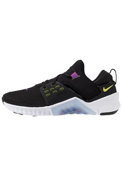 Nike Performance - FREE METCON 2 - Laufschuh Natural running - black/bright cactus/purple/white