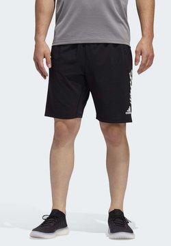 adidas Performance - 4KRFT 3-STRIPES 9-INCH SHORTS - Urheilushortsit - black
