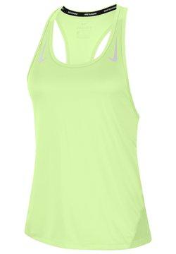 Nike Performance - MILER TANK RACER - Funktionsshirt - gelb