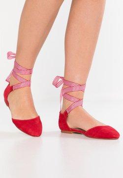 mint&berry - Ballerinat nilkkaremmillä - red