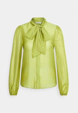 Glamorous - LONG SLEEVE BLOUSE WITH BOW DETAIL - Overhemdblouse - spinach green