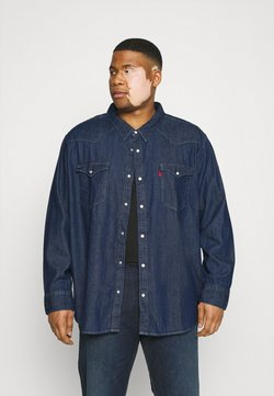 Levi's® Plus - BIG BARSTOW WESTERN - Camisa - red cast rinse marbled t2 h2 19