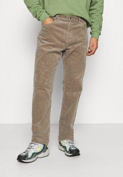 Weekday - SPACE TROUSERS - Pantalones - dark beige
