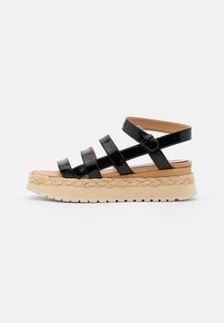 Paloma Barceló - ABACAXIS - Korkeakorkoiset sandaalit - loryblack