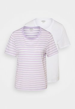 Monki - SIMBA TEE 2 PACK - T-shirt con stampa - white/lilac