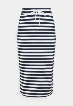 Vila - VITINNY  - Bleistiftrock - snow white/navy blazer stripes