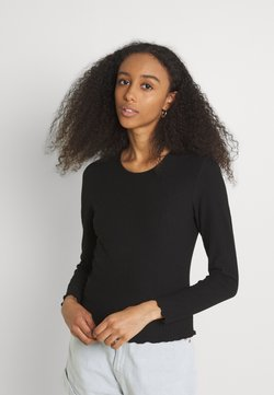 ONLY - ONLNELLA O NECK - Langarmshirt - black