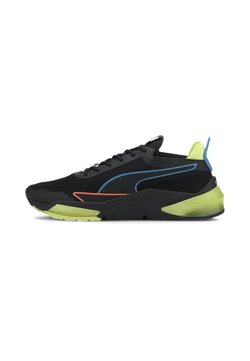 Puma - Stabilty running shoes - black-fizzy yellow-nrgy blue