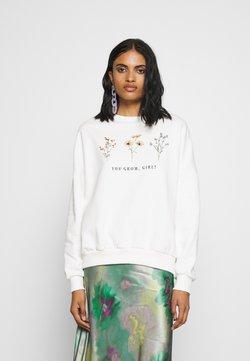 Even&Odd - Printed Crew Neck Sweatshirt - Sweatshirts - off-white