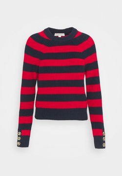 MICHAEL Michael Kors - BUTTON CUFF  - Strickpullover - blue