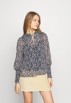 Forever New - FIONA SHIRRED SLEEVE BLOUSE - Bluser - blue