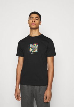 PS Paul Smith - MENS ZEBRA HANDS - T-Shirt print - black