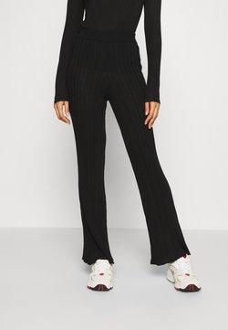 Weekday - MOON TROUSERS - Pantalon classique - black