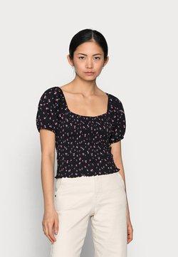 ONLY Petite - ONLFENJA LIFE TOP  - T-Shirt print - black/pink