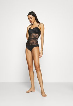 Calvin Klein Underwear - BLOOM FLORAL BODYSUIT - Body - black