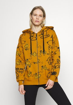 Desigual - SNOOPY HOODY - Zip-up hoodie - mustrard yellow