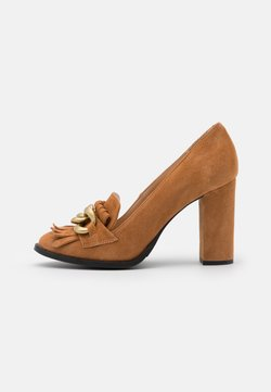 Selected Femme - SLFMEL - Hoge hakken - sudan brown