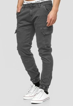 INDICODE JEANS - AUGUST - Cargohose - raven