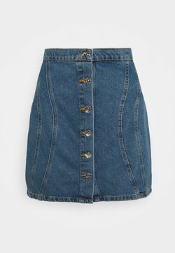 ONLY - ONLRUBY LIFE PANEL - Minihame - medium blue denim