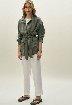Massimo Dutti - Tunn jacka - khaki