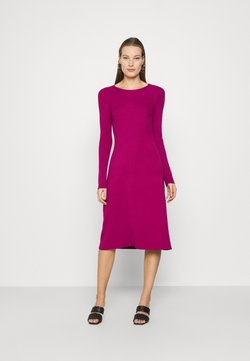 Who What Wear - PANEL DRESS - Vestido de punto - magenta