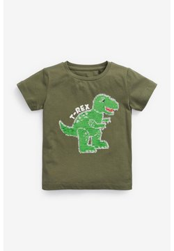 Next - Camiseta estampada - khaki