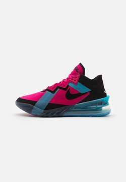 Nike Performance - LEBRON XVIII LOW - Zapatillas de baloncesto - fireberry/black/light blue fury