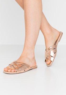 Dorothy Perkins - FENNEL INTERLACED MULE SLIDE - Pantolette flach - rose gold