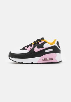 Nike Sportswear - AIR MAX 90 UNISEX - Sneaker low - black/light arctic pink/white/dark sulfur